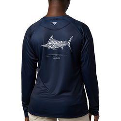 Columbia Womens PFG Tidal Printed Fish Long Sleeve Shirt