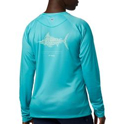 Womens PFG Tidal Printed Fish Long Sleeve Shirt