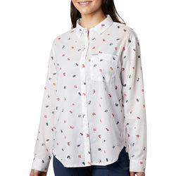 Columbia Womens PFG Bright Printed Long Sleeve Top
