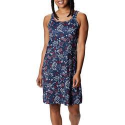 Womens Americana Inspired Printed Sleevless Dress