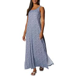 Columbia Womens Freezer Blue/White Print Maxi Dress