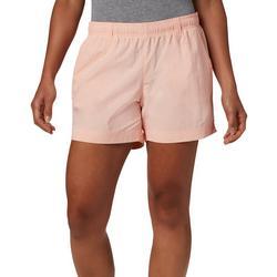 Womens Solid Drawstring Shorts