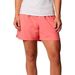 Womens Drawstring Solid Shorts