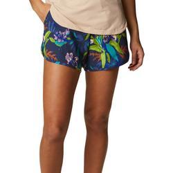 Womens Tropical Print Shorts With Drawstring