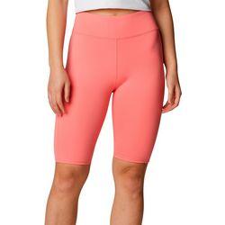 Columbia Womens Solid High Waisted Biker Shorts