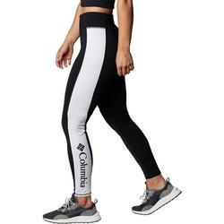 Columbia Womans Solid Leggings With Stripe Down The Side