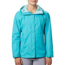Womens Solid Colored Rain Jacket