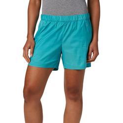 Tidal Spray Stretch Windbreaker Solid Shorts