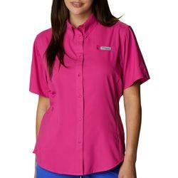Columbia Womens Tamiami Short Sleeve Solid Shirt