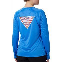 Columbia Womens PFG Tidal Triangle Graphic Long Sleeve