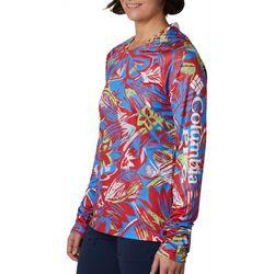 Columbia Womens Super Tidal Tee Tropical Print Hoodie