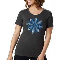Womens Anytime Snowflake Burst Graphic T-Shirt