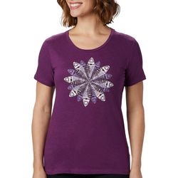 Columbia Womens Anytime Snowflake Burst Graphic T-Shirt