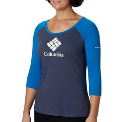 Columbia Womens Lodge Logo Graphic Top
