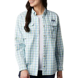 Columbia Womens PFG Bahama Plaid Long Sleeve Shirt