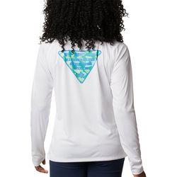Columbia Womens PFG Tidal Triangle Graphic Long Sleeve Shirt