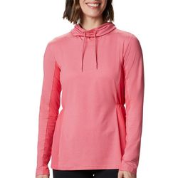 Columbia Womens Piney Ridge Solid Long Sleeve Hooded Shirt