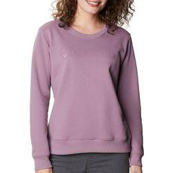 Columbia Womens Logo Crewneck Longsleeve Sweatshirt
