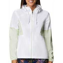 Columbia Womens Colorblock Rain Jacket With Hood