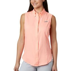 Womens Sleeveless Solid Tamiami Top