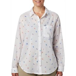 Columbia Womens PFG Sun Drifter II Tossed Elements Shirt