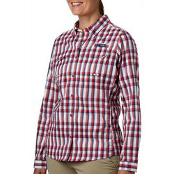Columbia Womens PFG Super Lo Plaid Shirt