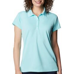 Womens PFG Solid Short Sleeve Polo Shirt
