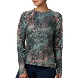 Columbia Womens PFG Super Tidal Marble Long Sleeve Tee