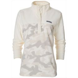Columbia Womens Quarter Button Camo Pullover Jacket