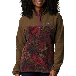 Columbia Womens Benton Springs Quarter Button Camo Jacket