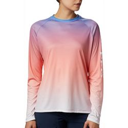 Columbia Womens PFG Super Tidal Ombre Long Sleeve Tee