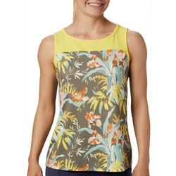 Womens Sleeveless Chill River Tropical Tank Top