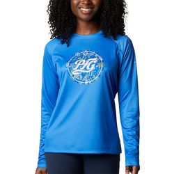 Columbia Womens PFG Tidal Medallion Graphic Long Sleeve