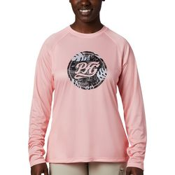 Columbia Womens PFG Tidal Medallion Graphic Long Sleeve Top