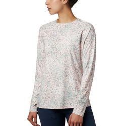 Columbia Womens PFG Super Tidal Mixed Print Long Sleeve Tee
