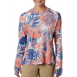 Columbia Womens PFG Tidal Tee Tropical Leaf Print Hoodie