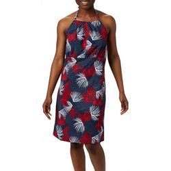 Columbia Womens Armadale II Tropical Leaves Halter Top Dress