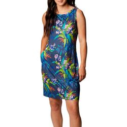 Columbia Womens Sleevless Subtle Printed Dress