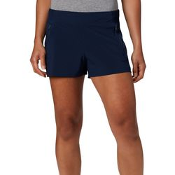 Columbia Womens Solid Drawstring Pull On Shorts