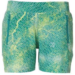 Womens Solid Drawstring Pull On Shorts