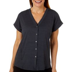 HI-TEC Womens Echo Space Dye Dolman Short Sleeve Top