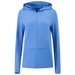 HI-TEC Womens Harrison Geo Breathable Mesh 1/2 Zip Hoodie