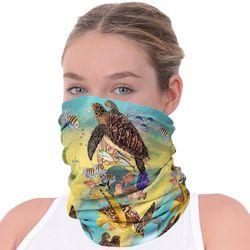 Womens Sea Turtle Print Neck Shield