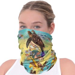 Womens Turtles Print Neck Shield