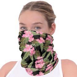 Womens Hibiscus Print Neck Shield