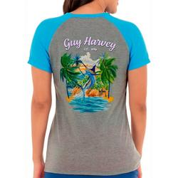 Womens Beach Screen Print On The Front
