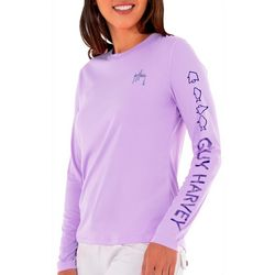 Guy Harvey Womens Logo Long Sleeve Top