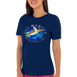 Guy Harvey Womens Turtle Front Screen Print Top