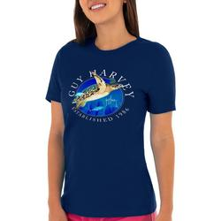 Womens Turtle Front Screen Print Top