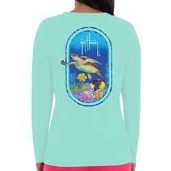 Womens Turtle Print Long Sleeve Tee